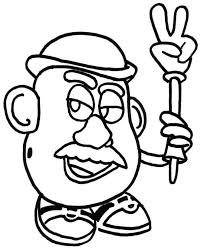 Small Picture Meet Mr Potato Head in Toy Story Coloring Page Download Print