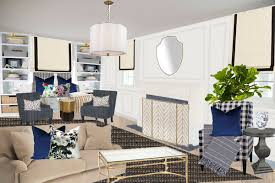Traditional Living Rooms One Room Challenge Spring 2017 Week 1 Preppy Traditional