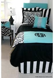 teal and black bedding sets blue black damask designer dorm bedding set teal and black bedding