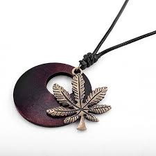 details about men s women s vintage maple leaf charm round wooden pendant best gift jewelry
