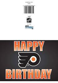 Birthday Flyers Philadelphia Flyers Team Logo Birthday Card 21230169