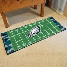 fanmats philadelphia eagles field runner mat area rug man cave bar game room