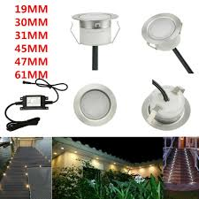 Details About 19 30 31 45 61mm Low Voltage Driveway Terrace Led Deck Stair Step Soffit Lights