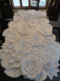 White Paper Flower Wall White Paper Flower Wall 4ft X 8ft Extra Large Paper Flowers