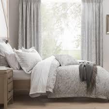 dorma winchester jacquard grey duvet cover dunelm