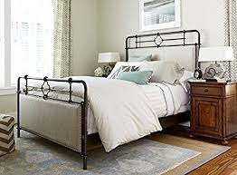 metal upholstered bed. Interesting Metal Paula Deen Home 596320B Upholstered Metal Bed Complete King And
