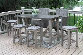 tall patio table. Chair Patio Furniture Counter Height Table Sets Tall Outdoor Bar Chairs Swivel Resin High Outside Stool