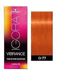 Igora Vibrance Shade Chart Schwarzkopf Professional Igora Vibrance Demi Permanent Tone On Tone Hair Color 0 77 Copper Concentrate