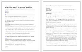 Advertising Agency Agreement Documentation