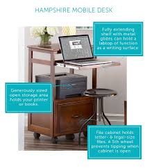 compact home office desk. Small Home Office Ideas: The Mobile Desk. \ Compact Home Office Desk