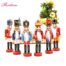<b>1SET 12cm Wood</b> Made Nutcracker Puppet Zakka Creative Desktop ...