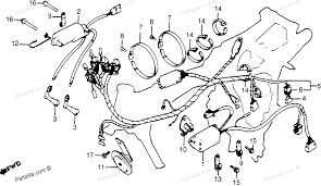 Honda motorcycle 1980 oem parts diagram for wire harness ignition coil c d i unit partzilla