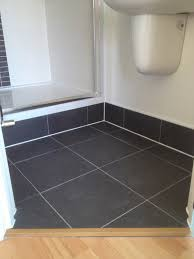 tiled shower tray riser with bathroom installation in leeds
