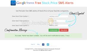 Stock Quotes Google New HowTo Get Free Live Stock Price Alerts From Google Finance Via SMS