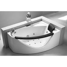 EAGO AM198-L 5' Left Drain Rounded Clear Modern Corner Whirlpool Bath Tub -