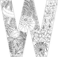 Small Picture Letter W with Plants coloring page Free Printable Coloring Pages