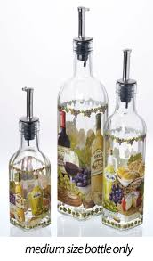 Decorative Olive Oil Bottle Dispenser Decorative Italian Design Glass Olive Cooking Oil Vinegar Bottle 2