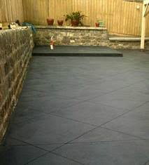 plain concrete patio. Coloured Concrete Patio Plain L