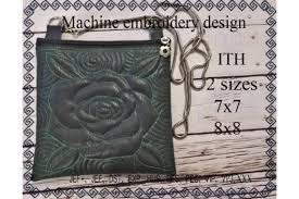 Cosmetic Bag In The Hoop Rose Creative Fabrica