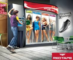 "Female Vending Machine Gorgeous Redtape Shoes ""Live Your Fantasy"" Campaign Sociological Images"