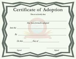 Pet Adoption Certificate Template Adoption Certificate Templates Mozo Carpentersdaughter Co