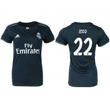 Madrid Isco 22 Navy 2018 Women's Away Real Authentic Jersey 19