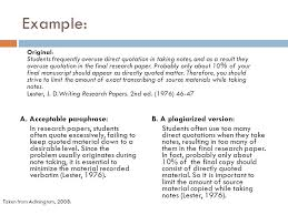 referencing paraphrasing ppt video online example a acceptable paraphrase