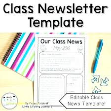 Class Newsletter Class Monthly Newsletter Editable Free Templates For