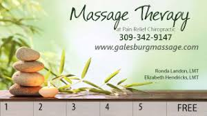 Discount Punch Card Discount Offers Galesburg Massage