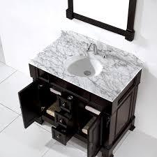 Dark Bathroom Vanity Virtu Usa Huntshire 40 Single Bathroom Vanity Set In Dark Walnut
