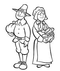 Printable Thanksgiving Coloring Pages Pilgrims Holidays Of We Are