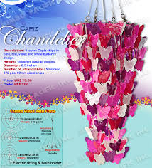 erfly capiz chandelier the est manufacturer and wholer of all natural and multi colored small