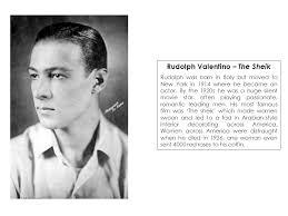「1926, silent-film star Rudolph Valentino」の画像検索結果