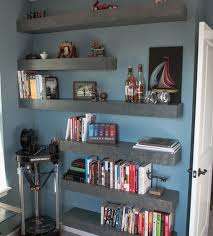 how to build floating shelves under