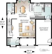 House plan W detail from DrummondHousePlans com    st level Affordable American style home plan   bedrooms and master suite   Whitman