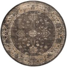 safavieh vintage soft anthracite 8 ft x 8 ft round area rug