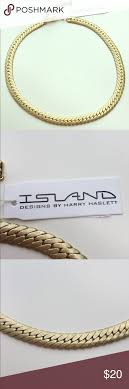 Island Designs By Harry Haslett Gold Necklace By Harry Haslett Beautiful Banded Gold