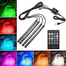 <b>Car</b> Interior Lights, EECOO Waterproof 4x12 <b>LED</b> Neon Lamp ...