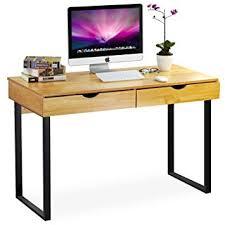 Moderner Glasschreibtisch Voll Schreibtisch Weiß Amazon Tribesigns Schreibtisch Mit Schubladen Moderner Bürotisch Computertisch Arbeitstisch Pc Tisch Für Home Office Arbeitzimmer Kinderzimmer