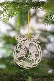 Weihnachtsbaumschmuck Engel Holz 8cm 4er Set