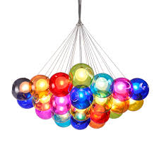 modern colorful chandelier. Modern LED Colorful Glass Bubbles Pendant Light Chandelier Ceiling Lamp Lighting O