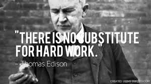 There Is No Substitute For Hard Work Thomas Edison Quote Interesting Thomas Edison Quotes