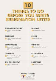 Writing A Resignation Letter