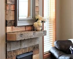 reclaimed wood mantel and pallets
