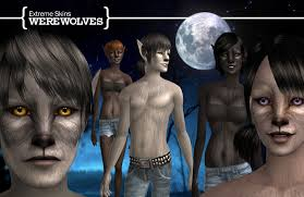 werewolves have been around in the sims2 game since the expansion pack pets however up to this point there have been very few custom skins