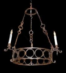 antique french iron chandelier for