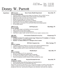 successful resume formats