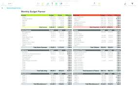 Simple Budget Plan Simple Budget Planner Template