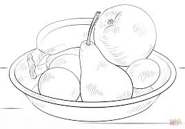 Small Picture Bowl of Fruits coloring page Free Printable Coloring Pages