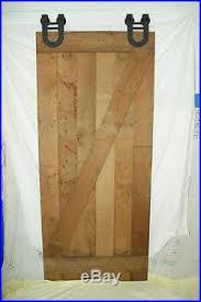 Beautiful Reclaimed Solid Wormy Chestnut Sliding Barn Door all Hardware Wood